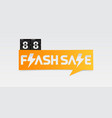 88 shopping day flash sale banner vector image