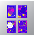 abstract futuristic page decoration in neon colors vector image vector image