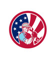 american industrial maintenance mechanic usa flag vector image vector image