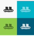 belt box conveyor factory line icon over various vector image vector image