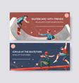 billboard template with skateboard design concept vector image vector image