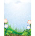 Bright sunny landscape vector image vector image