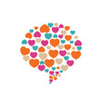 bubble with hearts for valentines day logo icon vector image vector image