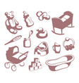 childrens icons vector image vector image