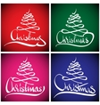 Christmas Greeting Card Hand lettering vector image