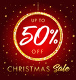 christmas sale up to 50 off star banner vector image vector image