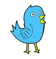 comic cartoon bluebird vector image vector image