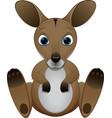 cute baby kangaroo vector image vector image