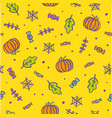 cute cartoon halloween background vector image vector image
