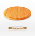 cutting board isolated on a white background vector image vector image