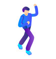 dancing man icon isometric style vector image
