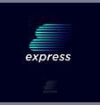 express logo logistic delivery company emblem vector image vector image