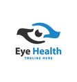 eye health modern logo vector image vector image