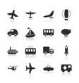 flat concept set modern design transportation vector image vector image