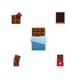 flat icon chocolate set of dessert chocolate vector image vector image