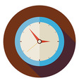 Flat Office Workplace Interior Clock Circle Icon vector image