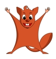 Fun zoo of cute Flying squirrel vector image