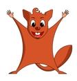 Fun zoo of cute Flying squirrel vector image vector image