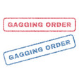 gagging order textile stamps vector image vector image