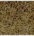 Gold Disco lights background Round golden vector image
