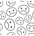hand drawn smiley face seamless pattern vector image vector image