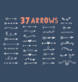 hand drawn vintage tribal arrows set vector image vector image