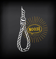 Hanging rope noose sketch design vector image
