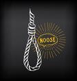Hanging rope noose sketch design vector image vector image