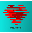 heart icon with irregular parallel rounded lines vector image vector image