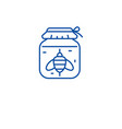honey jar line icon concept honey jar flat vector image