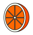 isolated cut orange icon vector image