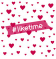 liketime background for social media blog vector image vector image