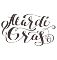 Mardi Gras lettering text for greeting card vector image vector image