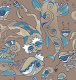 Marine life pattern vector image vector image