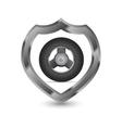 Mettalic shield icon vector image