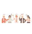 misunderstandings in team nervous office workers vector image