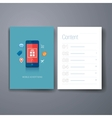 modern mobile shopping app flat icon cards design vector image vector image