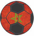 morocco flag with soccer ball background vector image