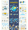 News Infographic set with charts and other vector image vector image