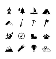 Outdoors tourism camping pictograms vector image