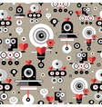 pattern amusing lovers robots vector image