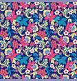 pattern in traditional vintage style folk vector image vector image