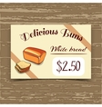 Price Tag Design White Bread vector image vector image