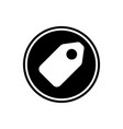 Price tag for sale round glyph icon label for