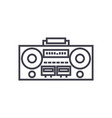 record tape player line icon sign vector image vector image