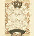 royal background and banner vector image