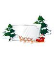 santa on whiteboard template vector image vector image