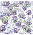 seamless pattern first snowdrops vector image vector image