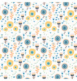 seamless pattern of colorful flowers vector image vector image
