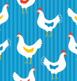 Seamless pattern with hens vector image